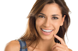 Smiling Woman after Cosmetic Dentistry Treatment